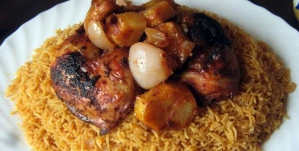 bbq chicken rice potato onion